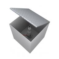 Технологический отсек с узлом рециркуляции паров 1000х550х600 (крышка с полимерным покрытием)