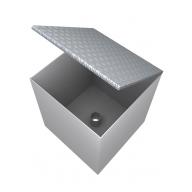 Технологический отсек линии наполнения 550х550х600 (алюминиевая крышка).