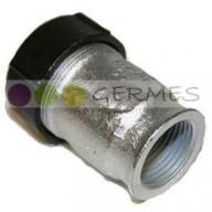 Обжимное соединение металлическое на трубу ТПДС с наружной резьбой RUS PIPE